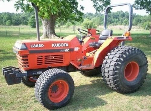 Product picture Kubota L2650 L2950 L3450 L3650 Tractor Operator Manual DOWNLOAD
